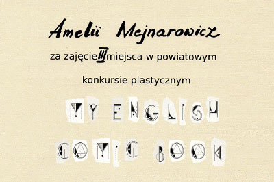"Sukces w konkursie ""My English Comic Book"""